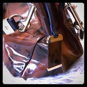 Jimmy Choo Black/ Brown Coated Leather Purse